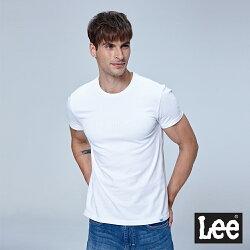 Lee 背後照片印花短袖圓領TEE-白色