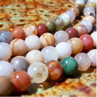 [血石]天然寶石 6mm圓形珠 diy飾品散珠 1