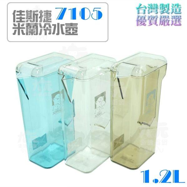 【九元生活百貨】佳斯捷 7105 米蘭冷水壺/1.2L 台灣製造