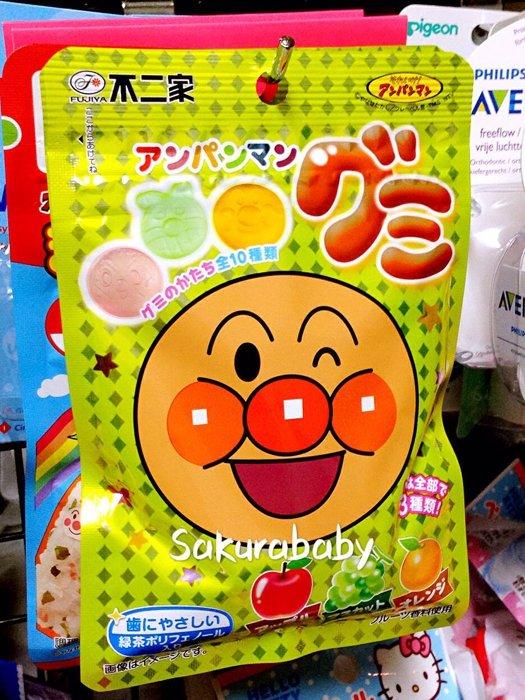 麵包超人 水果軟糖 幼童糖果 葡萄 橘子 蘋果 預防牙菌斑 _櫻花寶寶