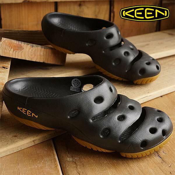 《台南悠活運動家》KEEN1001966男款護趾拖鞋-黑黃