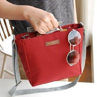 手提包旅行包-輕便簡約多隔層帆布側背包4色73pp310【獨家進口】【米蘭精品】 0