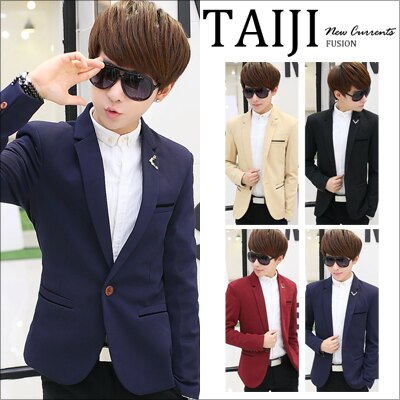 西裝外套【NTJBN814】日韓風格‧劍領造型雙層口袋木扣西裝外套‧四色‧加大尺碼‧簡約/經典/宴會