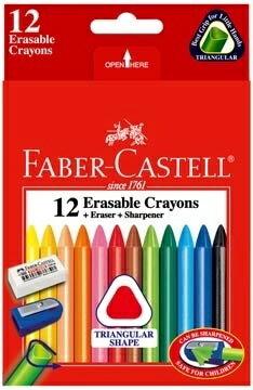 Faber-Castell 輝柏 #122612 三角12色擦擦蠟筆