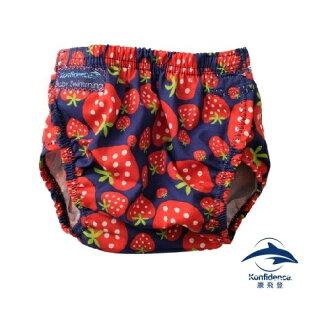 【夏日必敗7折起】英國【康飛登Konfidence】AquaNappy嬰兒游泳尿布褲-草莓