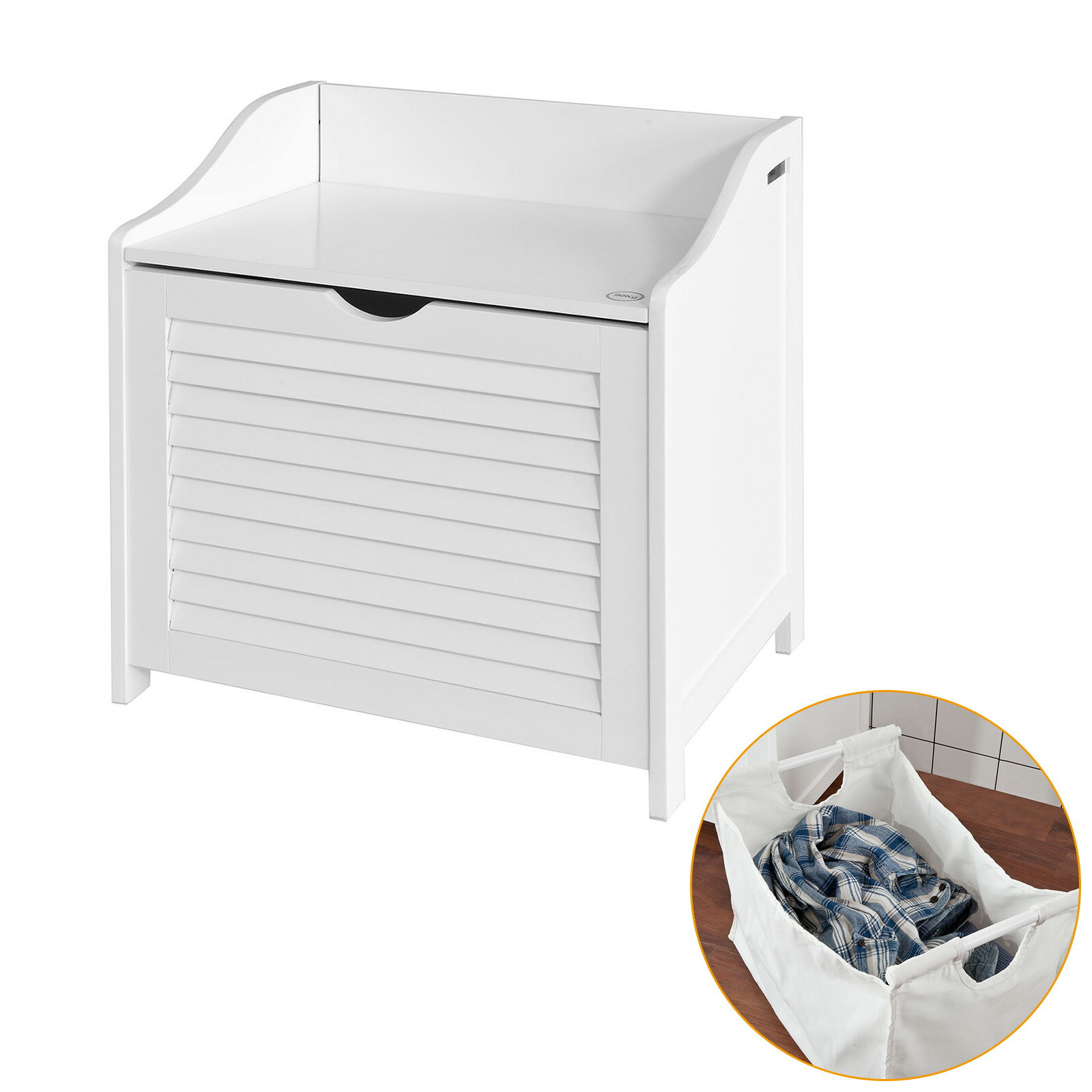 Haotiangroup: Haotian White Bathroom Storage Cabinet Chest Seat ...