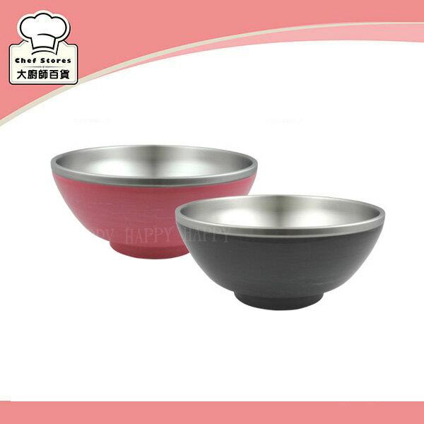 牛頭牌雙層彩晶隔熱湯碗公不鏽鋼泡麵碗1200cc料理拉麵碗-大廚師百貨