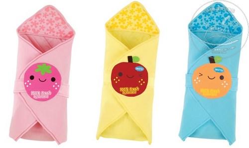 【迷你馬】Naforye 拉孚兒 舒棉造型包巾被(草莓 / 蘋果 / 橘子)
