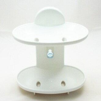 珍昕生活網:【珍昕】日式湯川雙層皂盒(附吸盤)(6入平均41入,12入平均39入)香皂盒