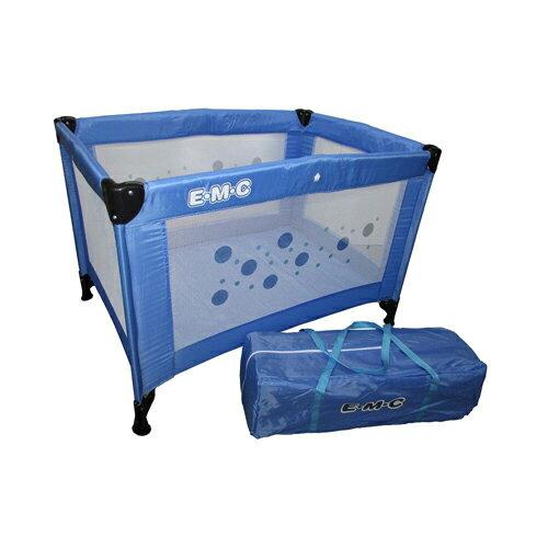 EMC輕巧型遊戲床-藍色【悅兒園婦幼生活館】