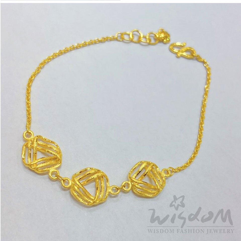 威世登 黃金流線型手鍊 約1.37~1.39錢 GC01045-1-ACXX -FIX