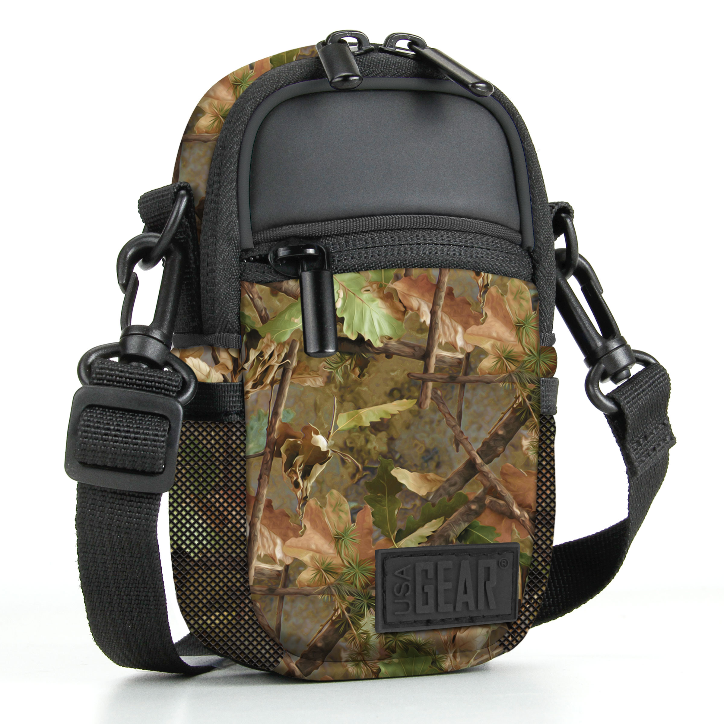 Compact Point and Shoot Camera Sling Bag by USA Gear with Rain Cover and Shoulder Sling Strap 0