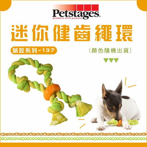 貓狗樂園 Petstages~Chewing~啃咬系列137~迷你健齒繩環~160元