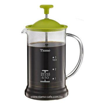 金時代書香咖啡   TIAMO 多功能法式玻璃濾壓壺 650cc SGS合格  HG2110G - 限時優惠好康折扣
