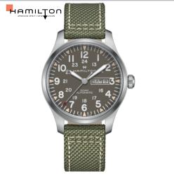 Hamilton 漢米爾頓 KHAKI 卡其野戰系列時尚機械錶 H70535081 綠/42mm