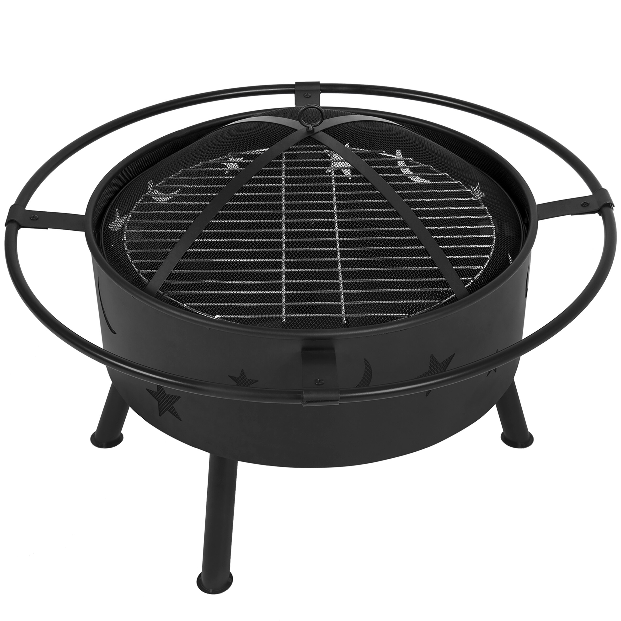 fire pit grate bestchoiceproducts best choice products 30in outdoor 29233