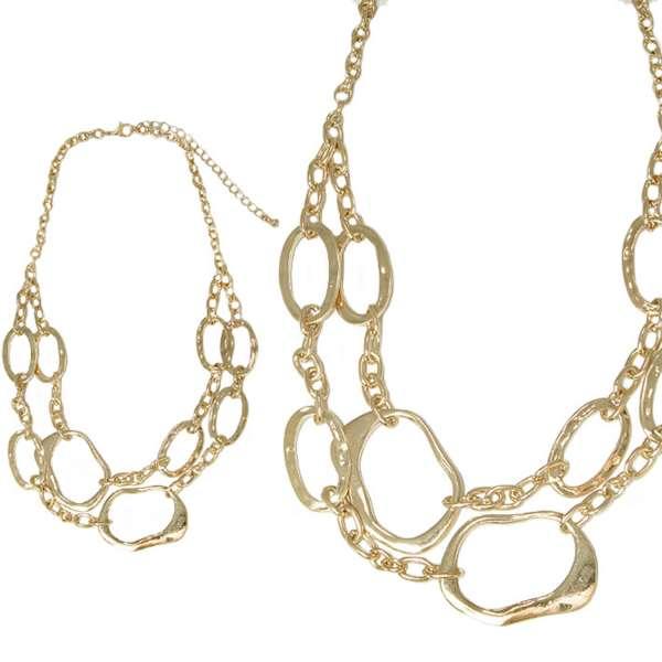 【摩達客】時尚拼接金屬項鍊