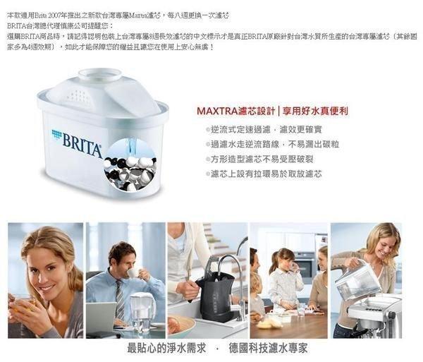 BRITA MAXTRA 系列濾芯1入 濾水壺專用 新一代8週長效型只賣260元