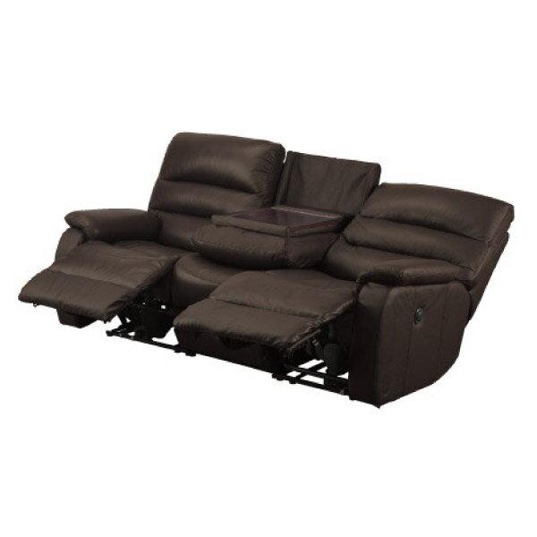 ◎全皮3人用頂級電動可躺沙發 BELIEVER2 DBR NITORI宜得利家居 0