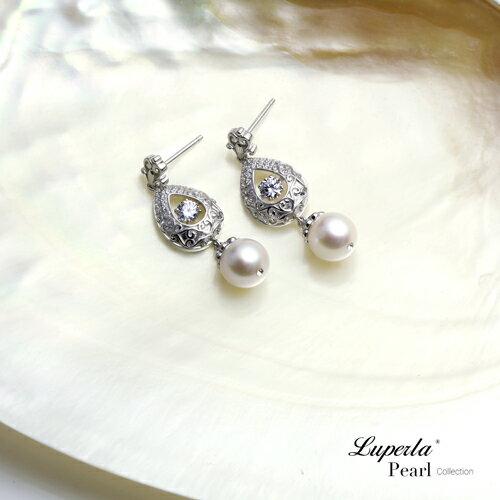 大東山珠寶 星芒 日本AKOYA天然海水珍珠純銀晶鑽耳環 3