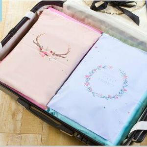 美麗大街【BF537E3】SAFEBET卡通花環防水衣物整理束口收納袋(12只裝)