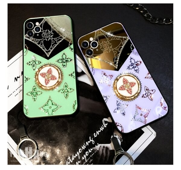 蘋果 iPhone XR XSmax iPhone X XS 鏡面防摔保護殼 奢華水鑽指環扣 手機殼 影片支架 閃亮 支架款