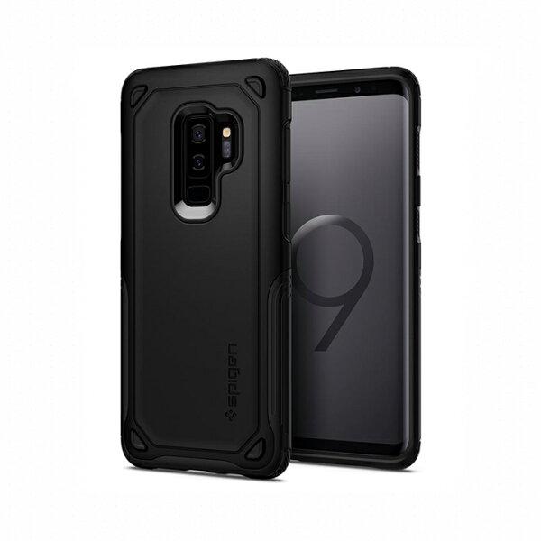 【Spigen】GalaxyS9+CaseHybridArmor全包覆式強化螢幕防護保護殼黑銅灰