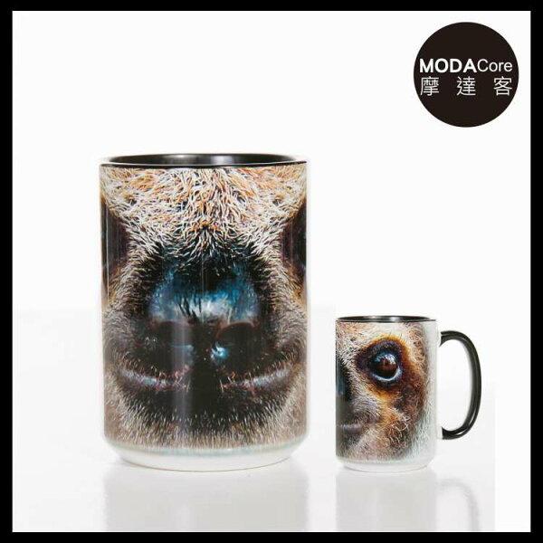 【摩達客】(預購)美國TheMountain樹懶臉圖案設計藝術馬克杯440ml