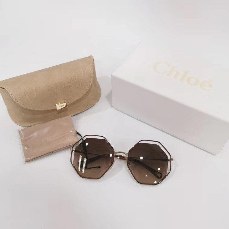 【Chiu189英歐代購】Chloe' 復古八角形 茶色 太陽眼鏡 墨鏡