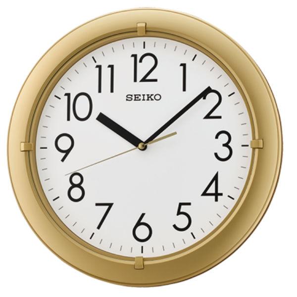 Seiko 精工鐘 (QXA716G) 典雅風格金色外框黑白標準鐘/32.8*3.9cm