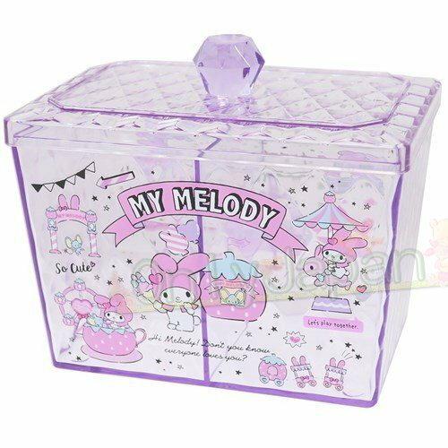 【真愛 】4930972481773 寶石菱格紋收納罐-MM 美樂蒂melody 飾品盒 收納盒 收納罐 置物罐 儲物罐 桌上收納