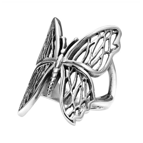 Exotic Wings Wild Butterfly .925 Sterling Silver Ring (Thailand) 1