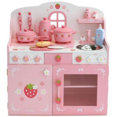 日本【Mother Garden】野草莓粉緞鑄鐵鍋廚房組 - 限時優惠好康折扣