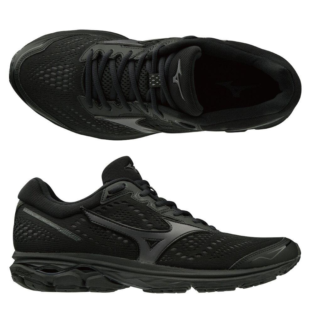 WAVE RIDER 22 一般型 男款慢跑鞋 J1GC183113(黑)【美津濃MIZUNO】 1