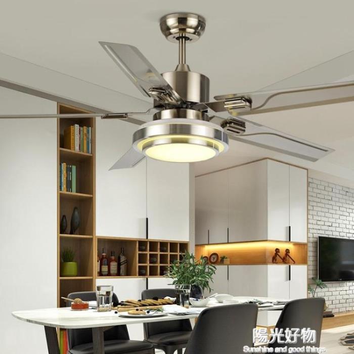 吊燈法櫻現代簡約風扇燈帶風扇餐廳吊扇燈客廳家用臥室遙控電扇燈