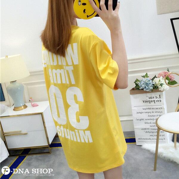 F-DNA★Waiting前後印字長版上衣圓領短袖T恤(3色-M-2XL)【ET12711】 1