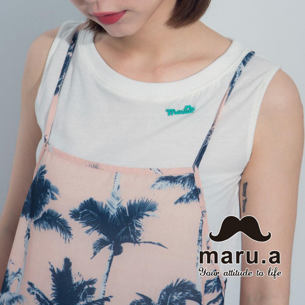 【maru.a】夏日椰子樹兩件式背心7323121 3
