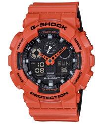 CASIO 卡西歐 G SHOCK 個性雙色雙顯計時錶 GA-100L-4A 55mm