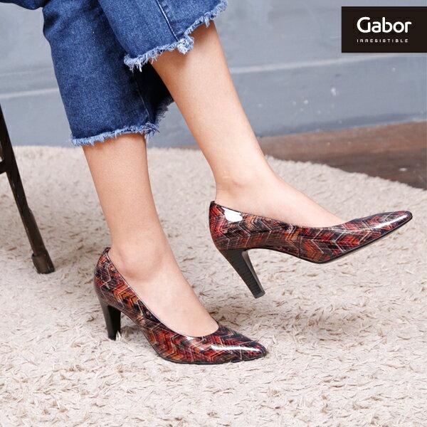 【GABOR 單一降價 │全店免運】GABOR  菱紋未來感時尚低跟鞋 2