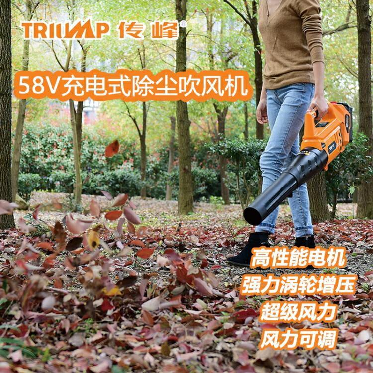 [快速出貨]傳峰58V手提大功率充電式工業吹風機無線馬路吹樹葉吹葉機鼓風機凱斯盾數位3C 交換禮物 送禮