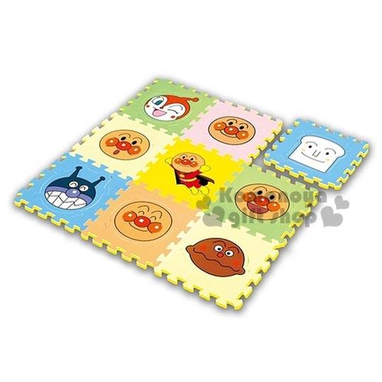 〔小禮堂〕麵包超人 拼圖地墊《彩色.大臉.多角色》地板巧拼.遊戲軟墊