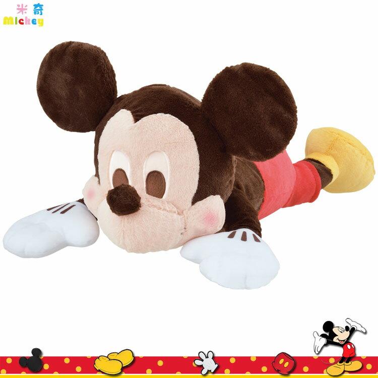 迪士尼 米奇 趴式絨毛 娃娃 趴姿造型 抱枕 玩偶 67CM 景品 全1種 日本進口正版 1019491