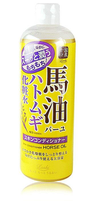 【Loshi】ROLAND馬油薏仁保濕化妝水 柔膚水 500ML ロッシ モイストエイド スキンコンディショナー 馬油ハトムギ化粧水