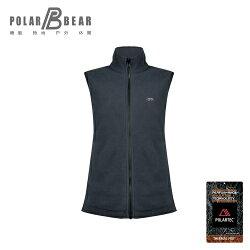 【POLAR BEAR】女POLARTEC C200刷毛結合保暖背心