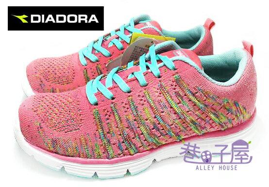 【巷子屋】義大利國寶鞋-DIADORA迪亞多納 女款無接縫編織運動跑鞋 [2522] 粉 MIT台灣製造 超值價$690