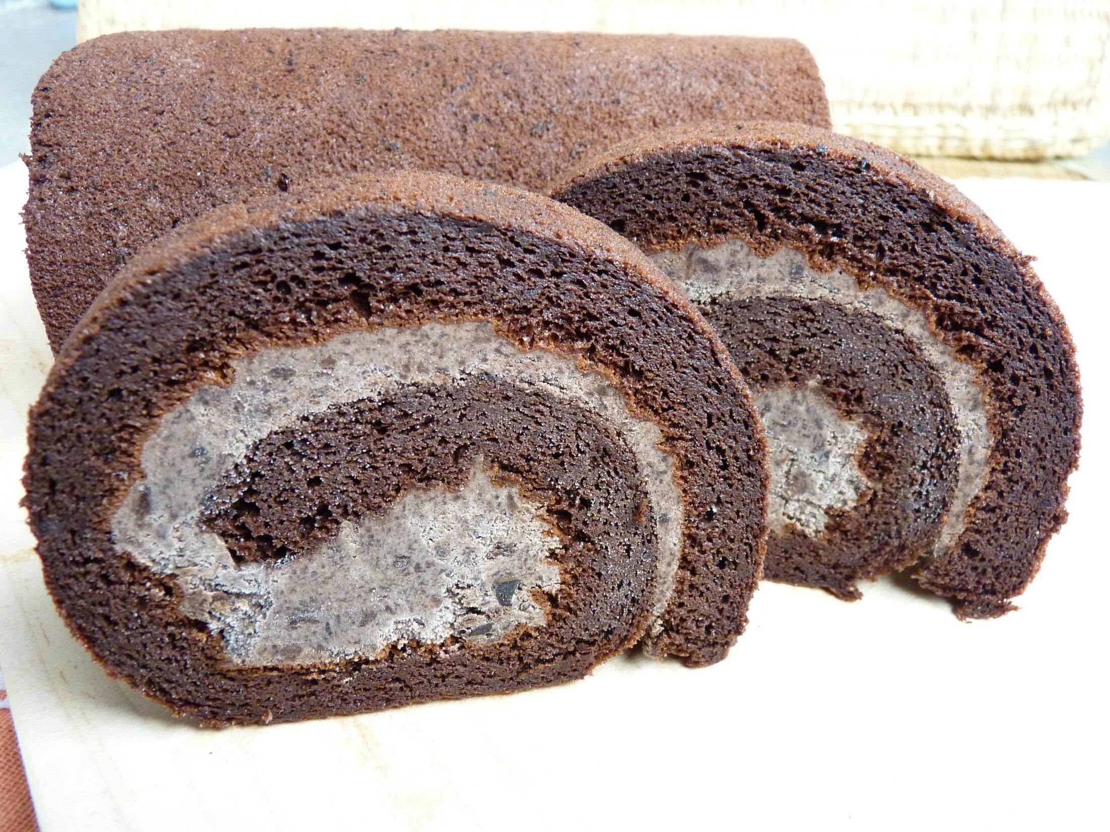 楓月軒】(獨家限作) 樂芙純巧克力生乳捲 (一條560公克±10%) 伴手禮送禮大方 , 彌月蛋糕