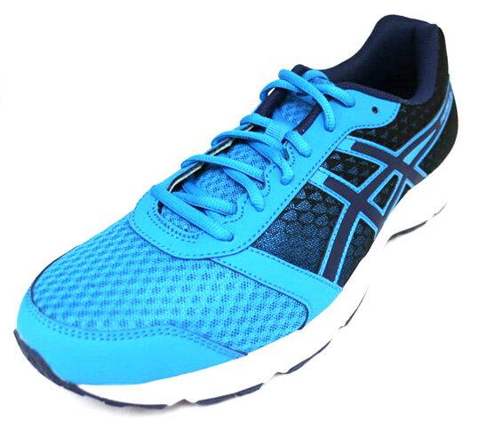 陽光運動館:ASICS亞瑟士PATRIOT男款入門型慢跑鞋水藍T619N-4549[陽光樂活]