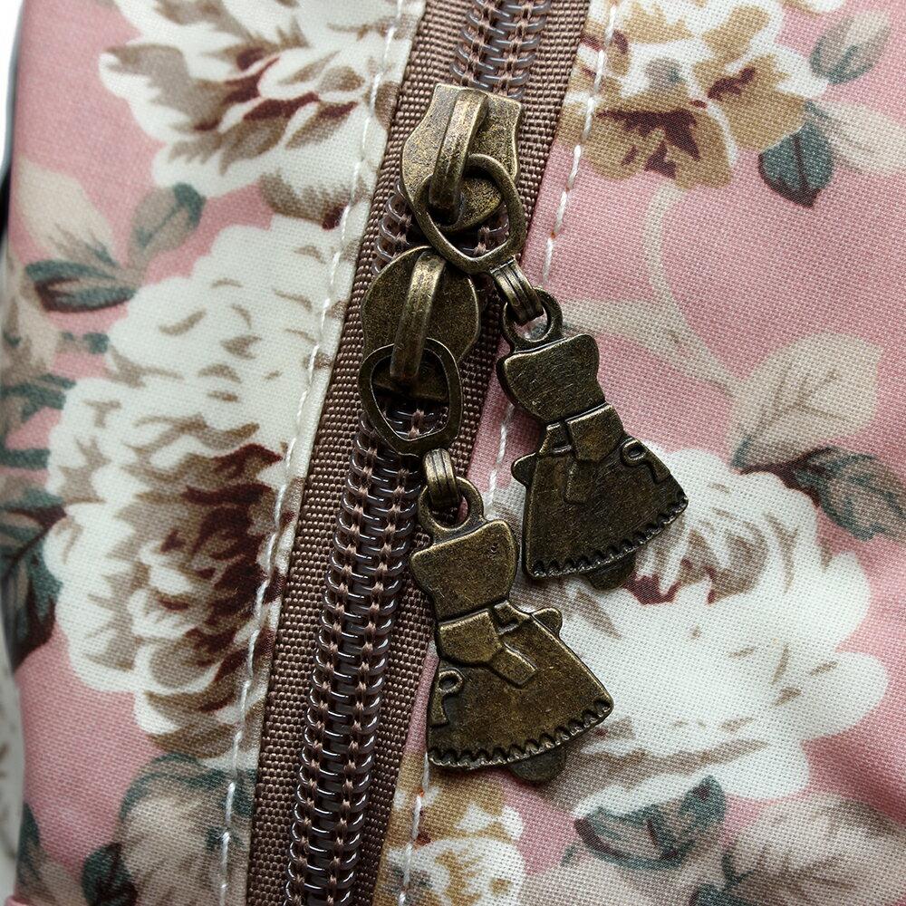 【BEIBAOBAO】粉色花漾親子包( 大+中+小  共三個) 6