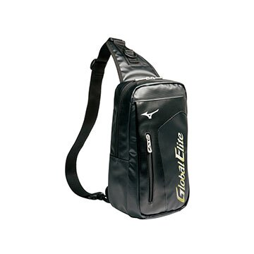 1FJD491109〈黑〉日本暢銷款輕量防水 GlobalElite 單肩背包 【美津濃MIZUNO】