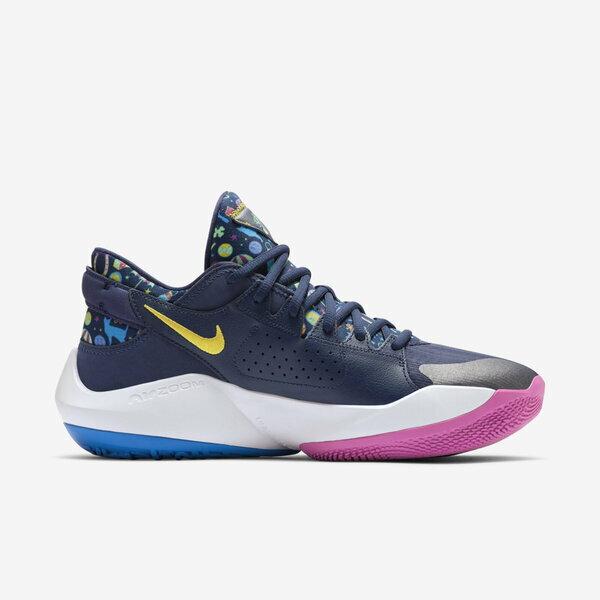 Nike Zoom Freak 2 Ep [DB4738-400] 男鞋 籃球鞋 運動 透氣 包覆 柔軟 彈力 深藍 黃